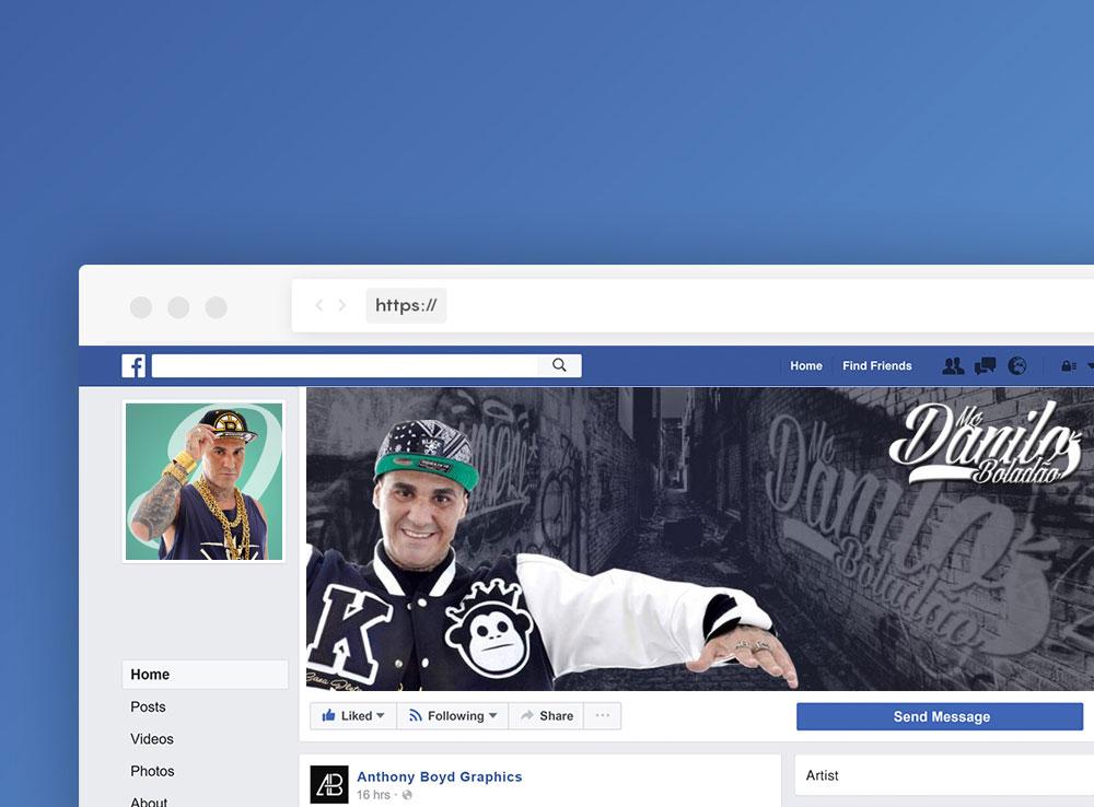 MC Danilo Boladão – Design de Fanpage