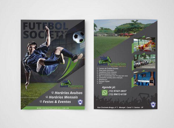 Arena Portuários – Panfleto