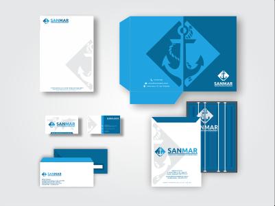 SANMAR Logística – design de papelaria